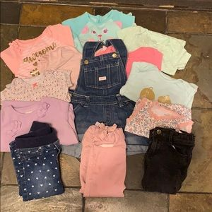 Assorted baby girl cloths